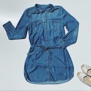 American Eagle Chambray Denim Shirt Dress Medium